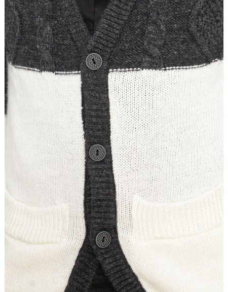 YES LONDON knit cardigan XML3454 grey-black