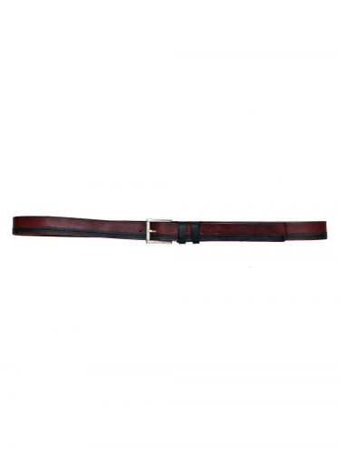 Gad Accessories belt B145/1/30 burgundy red-black