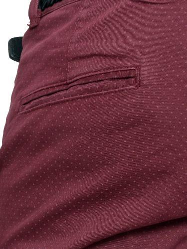 AKIRO τσίνο παντελόνι DA242 μπορντό