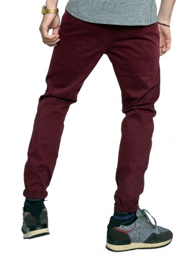 OVER-D chino pants 1940 burgundy red