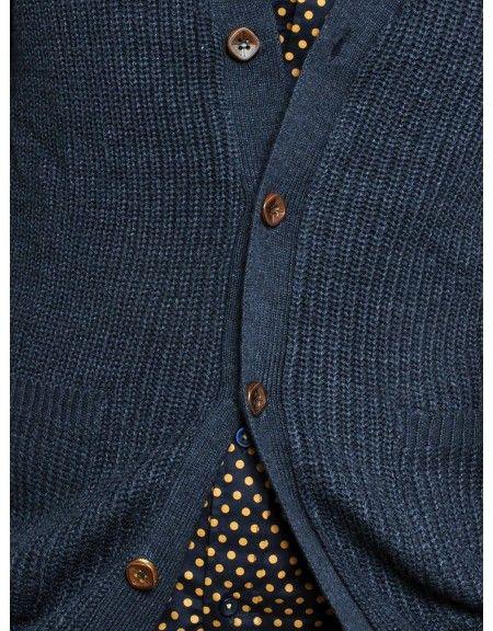GUYA knit cardigan MA6609UOFW15 blue melange