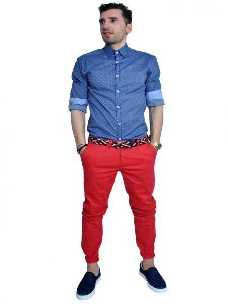 BAKER'S DOZEN chino παντελόνι BKR-12 κοραλί