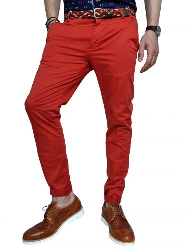 OVER-D chino pants GL621 red