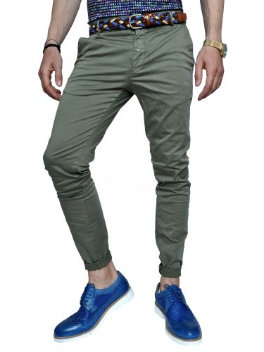 OVER-D chino παντελόνι GL621 χακί