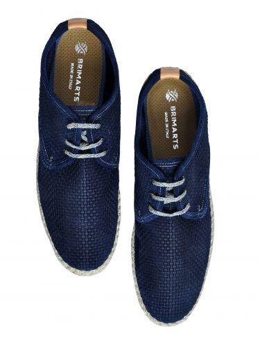 BRIMARTS δετές δερμάτινες εσπαντρίγιες 316264 navy blue