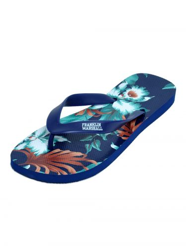 Franklin and Marshall flip-flops FTUA9091S16 blue floral