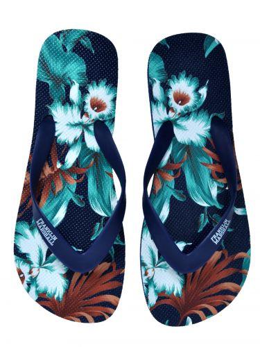 Franklin and Marshall flip-flops σαγιονάρες FTUA9091S16 μπλε φλοράλ