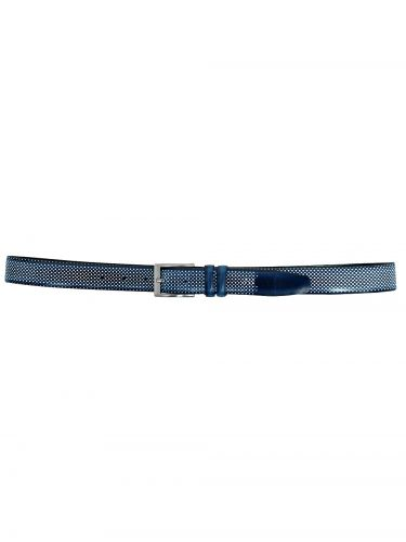 Gad δερμάτινη ζώνη B175/1 μπλε μαρίν