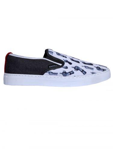 RUM JUNGLE slip-on sneakers SEASY 00RAC004-016-001 white-anthracite